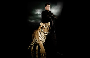 Greg Frewin and a tiger
