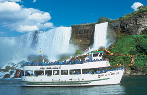 Maid of the Mist in the Niagara River