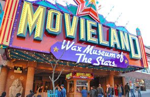 Exterior view of the Movieland Wax Museum on Clifton Hill