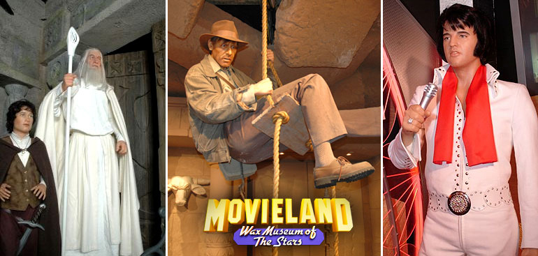 Characters at the Movieland Wax Museum