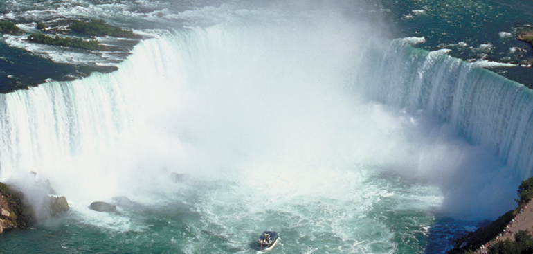 View of Horseshoe Falls and Maid of the Mist