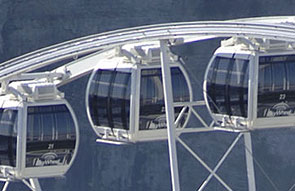 Close up view of Niagara Skywheel